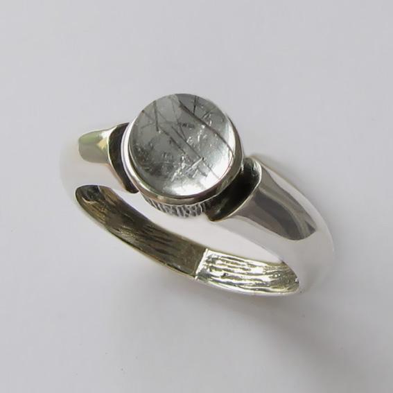 Кольцо с рутиловым кварцем, арт. ПФ36
