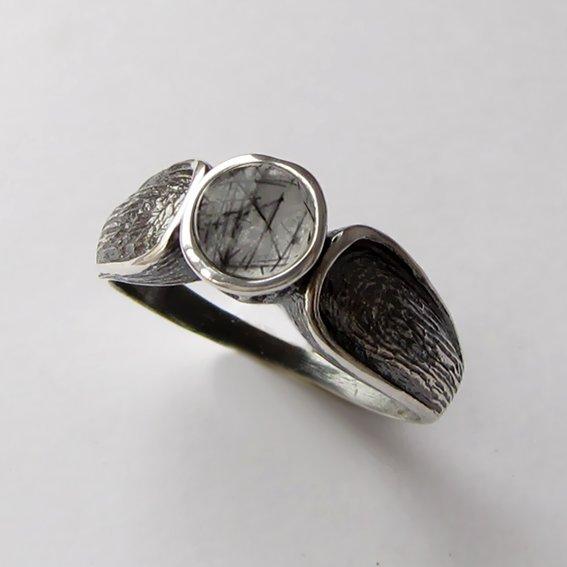 Кольцо с рутиловым кварцем, арт. ПФЧ38