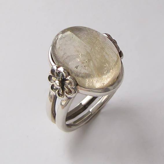 Кольцо с золотистым кварцем, арт. РОМ3