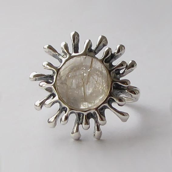 Кольцо с золотистым кварцем, СЧ3