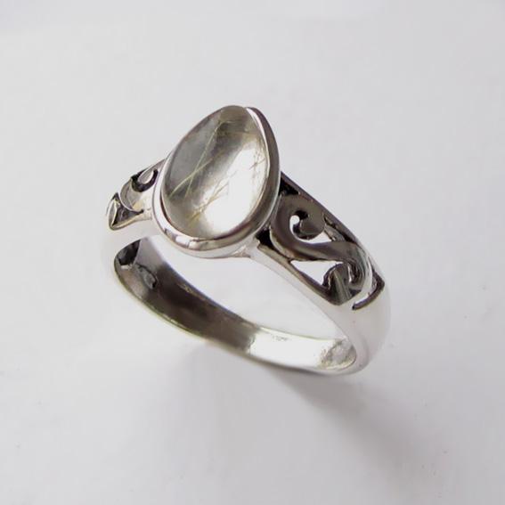 Кольцо с золотистым кварцем, арт. СЛ37