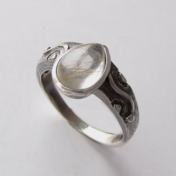 Кольцо с золотистым кварцем, арт. СЛЧ37