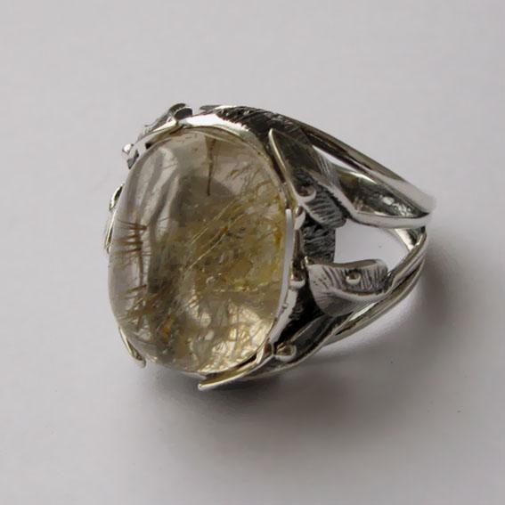Кольцо с золотистым кварцем, арт.ВЕТ3