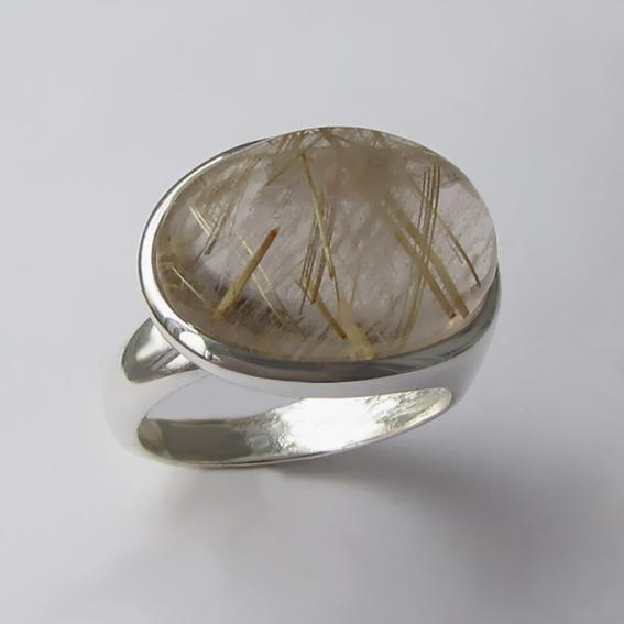 Кольцо с золотистым кварцем, арт. ВОВБ313