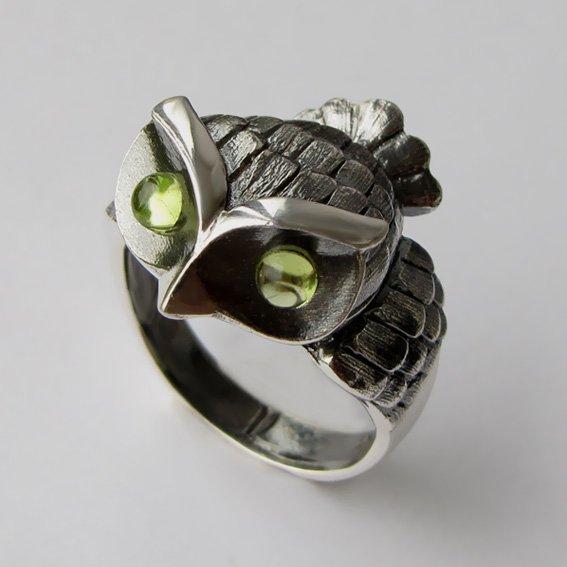 Кольцо с хризолитом, арт. ФИЛ33