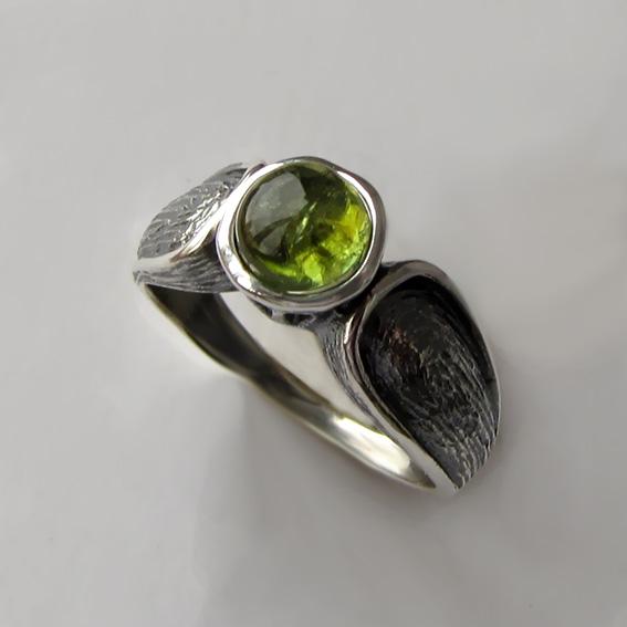 Кольцо с хризолитом, арт. ПФЧ36