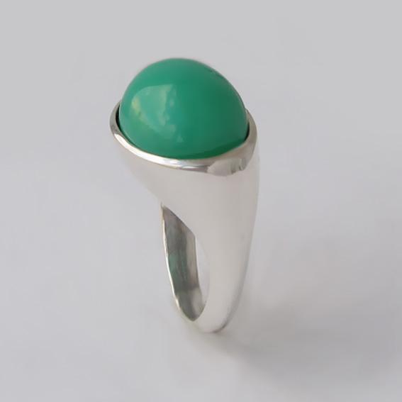 Кольцо с хризопразом, арт. КОВ312