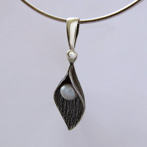 Кулон из серебра с жемчугом ЛИС1