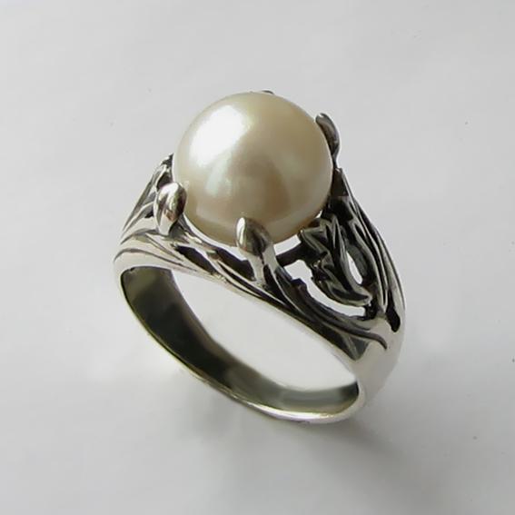 Кольцо с жемчугом, арт. ЛИА311