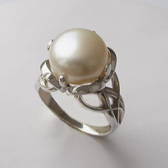 Кольцо с жемчугом, арт. П33