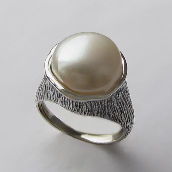 Кольцо с жемчугом, арт. ПЕ3